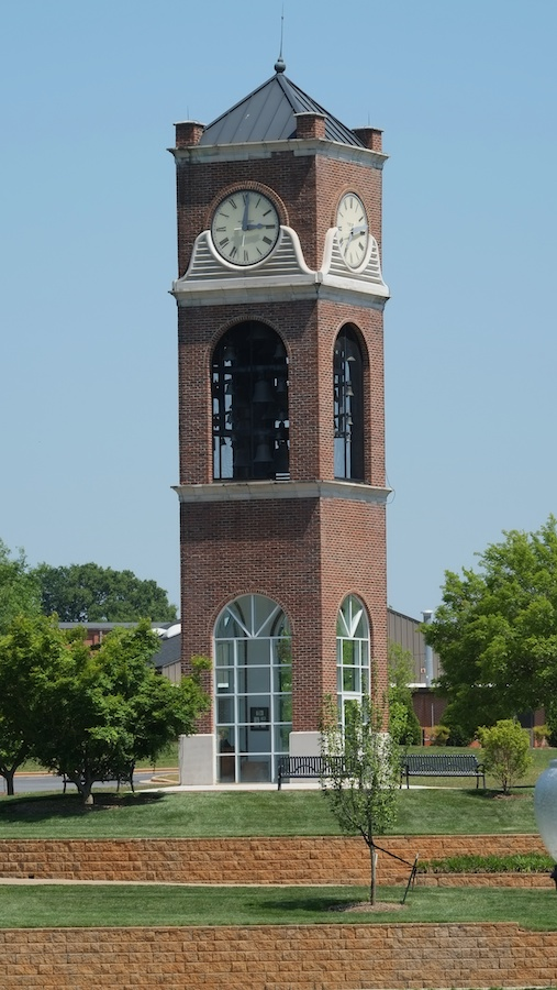 The clock tower at Gardner-Webb University
