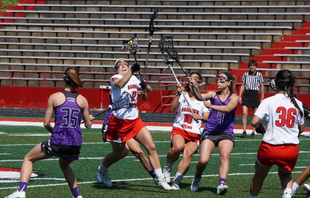 Gardner-Webb University hosts High Point University in lacrosse on Saturday, April 4, 2015 in Spangler Stadium.