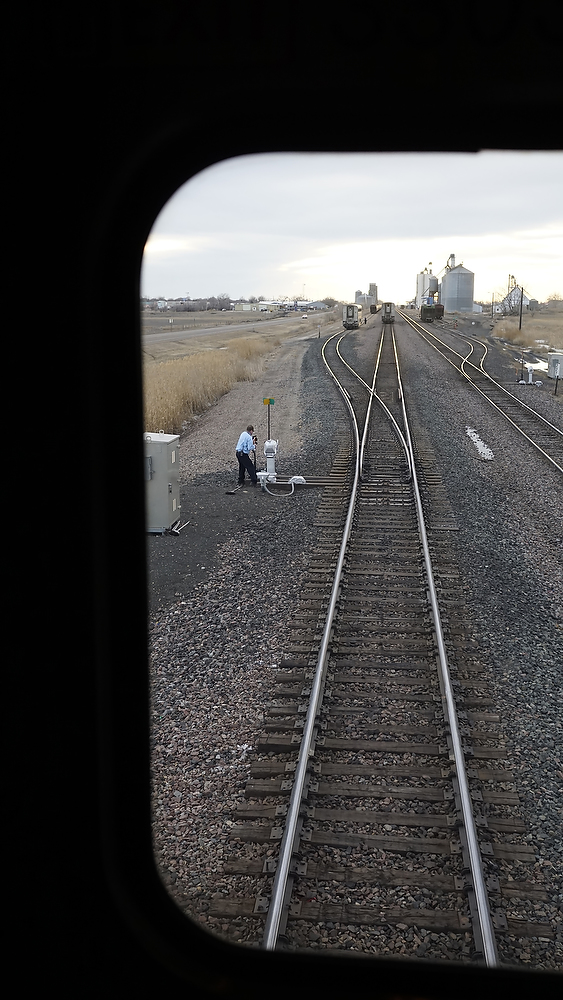 The Empire Builder drops a coach car after discovering a broken wheel in Montana. ©2015 Bob Carey (Sony a6000, Sony 24mm – 1/500, f4, iso 800)